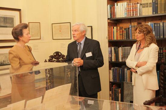"""Η ΑΒΥ Πριγκίπισσα Άννα στο """"Ίδρυμα Αικατερίνης Λασκαρίδη"""" με τον Πρόεδρο του Ιδρύματος, κ. Παναγιώτη Λασκαρίδη και την Αντιπρόεδρο του Ιδρύματος, κ. Μαριλένα Λασκαρίδη."""
